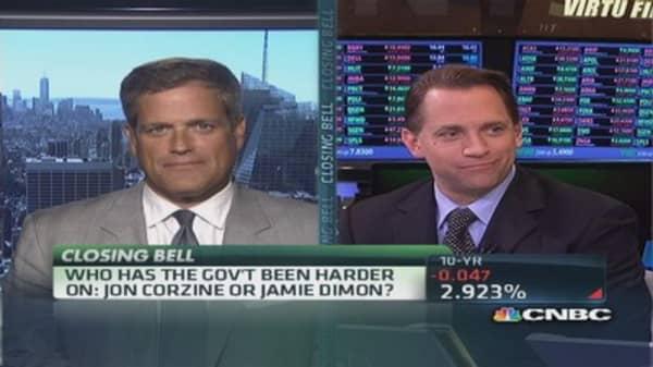 Jon Corzine or Jamie Dimon: Who has it tougher?