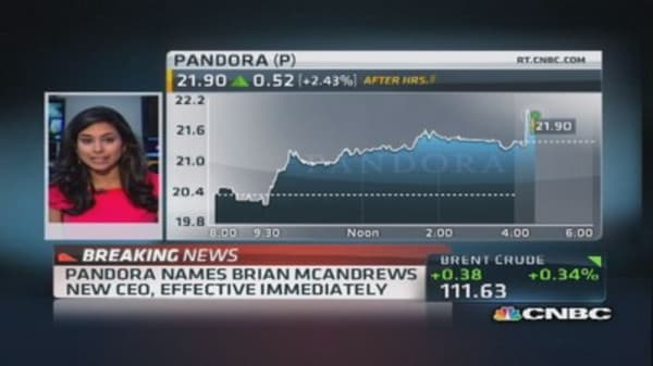 Pandora names new CEO