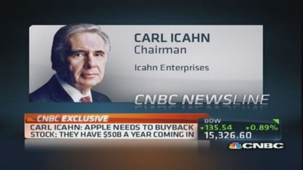 Icahn bought 'quite a bit of shares' of Apple