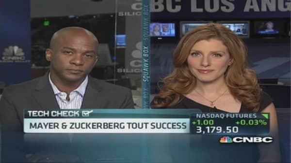 Mayer & Zuckerberg tout success