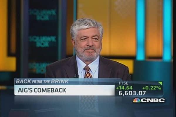 AIG's CEO shares comeback story