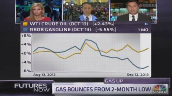 Seeking the bottom for gasoline