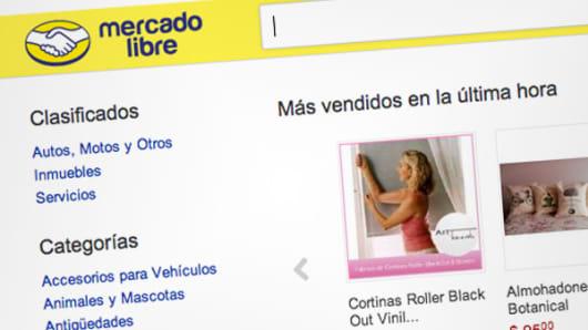MercadoLibre webpage