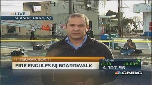 Boardwalk blaze sweeps NJ shore town