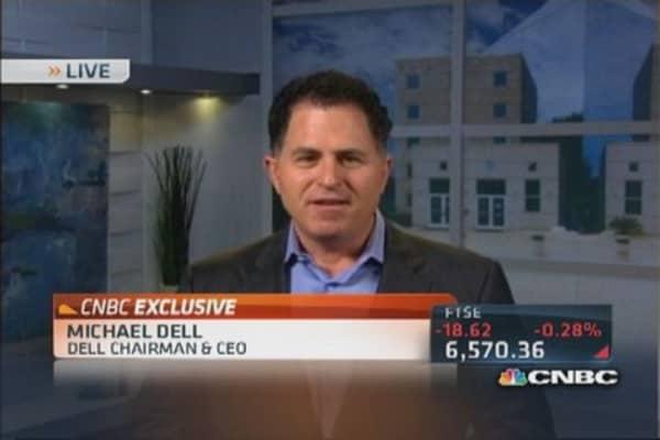 Michael Dell speaks out on buyout battle