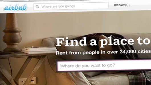 Airbnb webpage