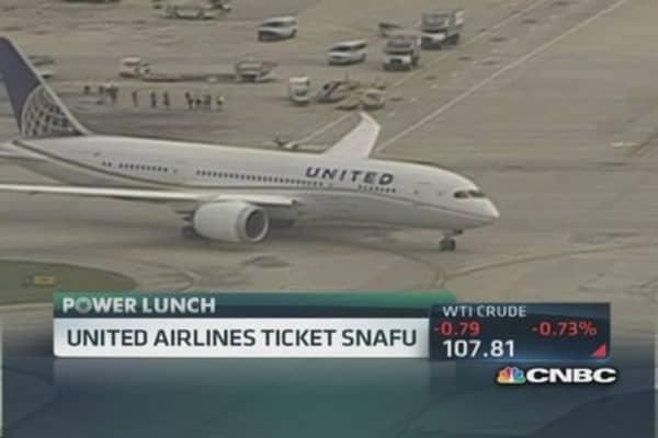 United Airlines ticket snafu