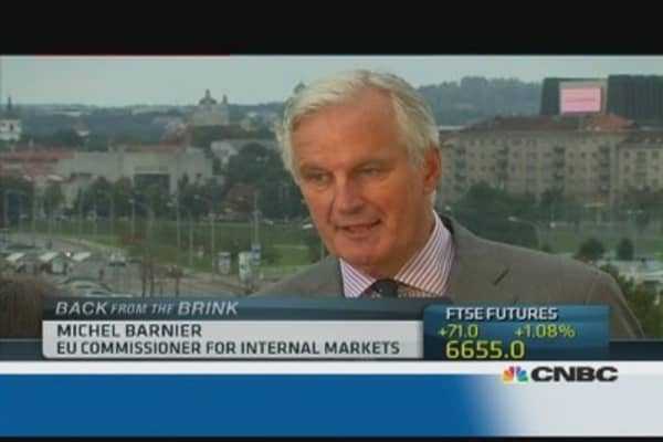 EU's Barnier: Cannot rule out another Lehman-style crisis
