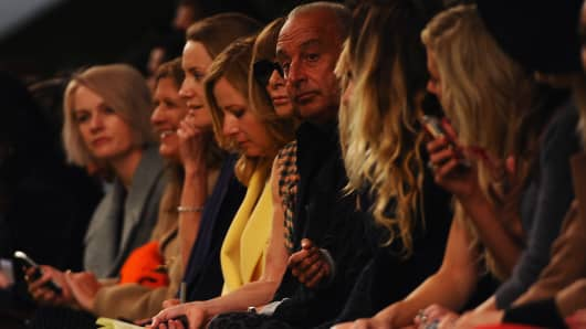 Topshop's front row at London Fashion Week