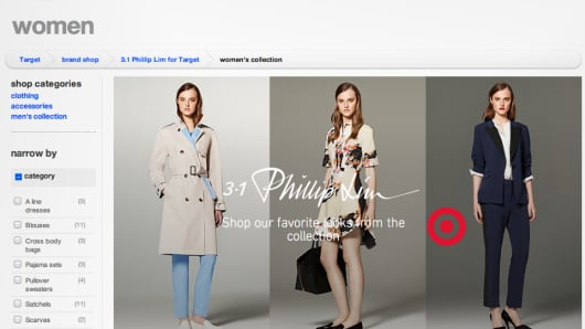 Phillip Lim for Target Web page.