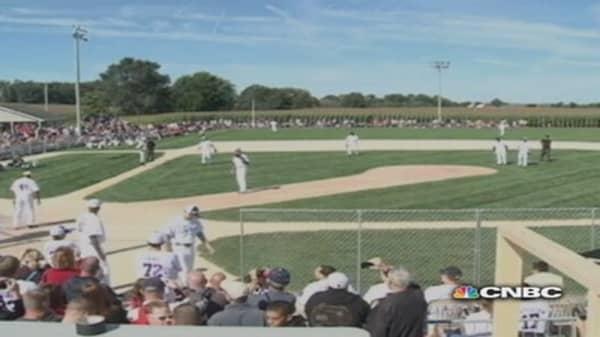 Major Leaguers a hit on 'Field of Dreams'