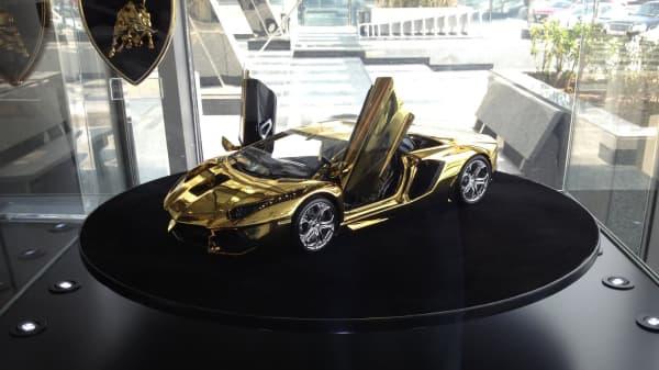 Gold Lamborghini: Yours for $7.5 million