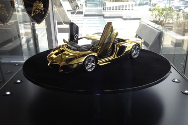 Gold Lamborghini: Yours for $7.5 million