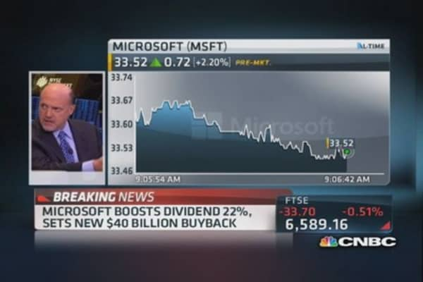 Cramer: Is Microsoft's new dividend necessary?