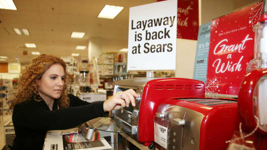 Retailers such as Sears are seeing a layaway resurgence for the holidays.
