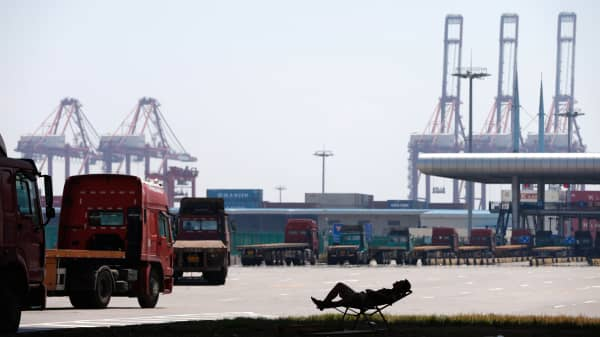 The Yangshan port in Shanghai, one of the districts that would be included into Shanghai's free trade zone.