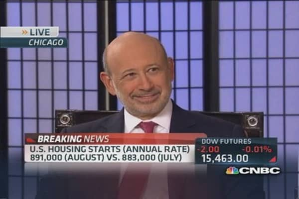 Goldman's Blankfein: Fed should taper