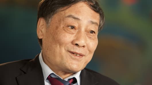 Zong Qinghou, chairman of Hangzhou Wahaha Group Co.