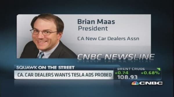 California car dealers want Tesla ads probed