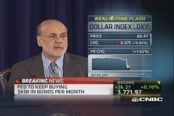 Ben Bernanke holds press conference after announcing no taper