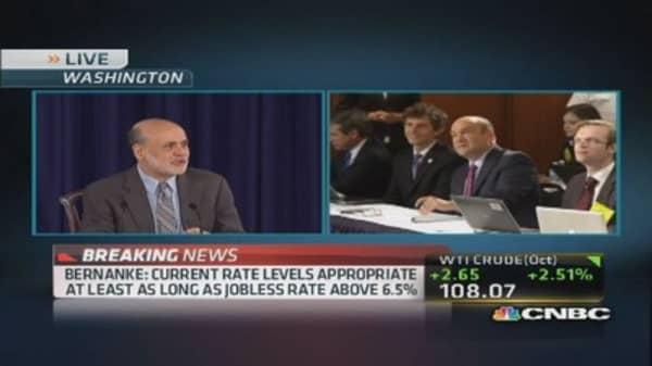 Bernanke: 'No particular calendar for pulling back asset purchases'