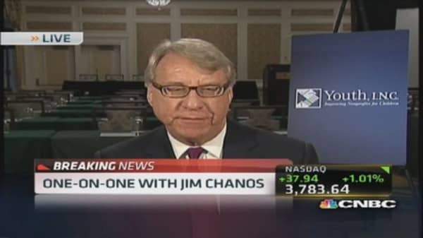 Kynikos's Chanos: China's problem is about credit, not growth
