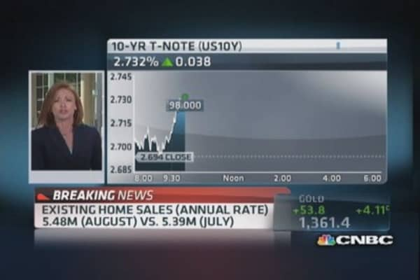 Existing home sale up 1.7% in August