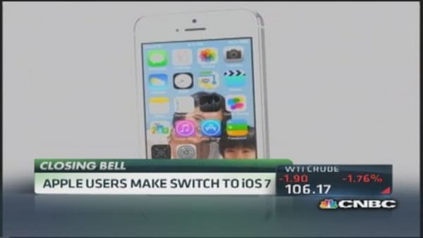 Apple users switch to iOS 7