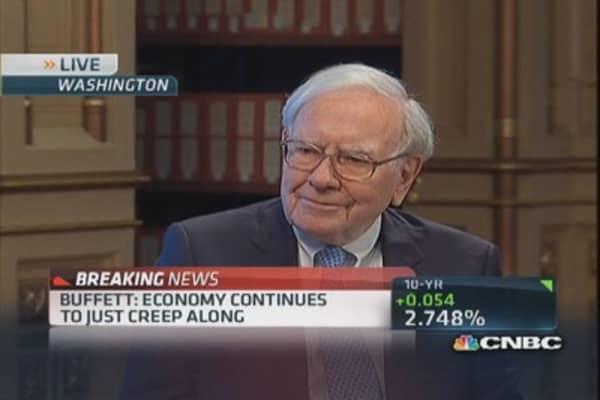 Buffett: Finding things to buy