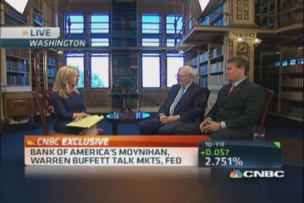 Buffett: Economy continues to just creep along