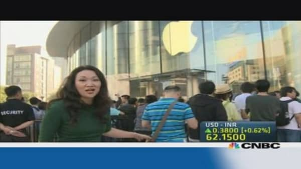 China Apple users go for the gold