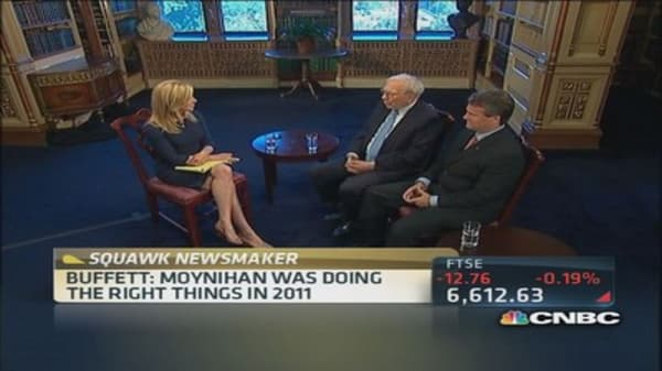 Buffett: Moynihan was doing the right things in 2011