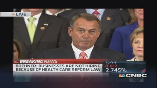 Boehner: American people don't want Obamacare