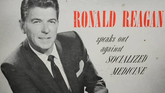Ronald Reagan speaks out against socialized medicine LP.