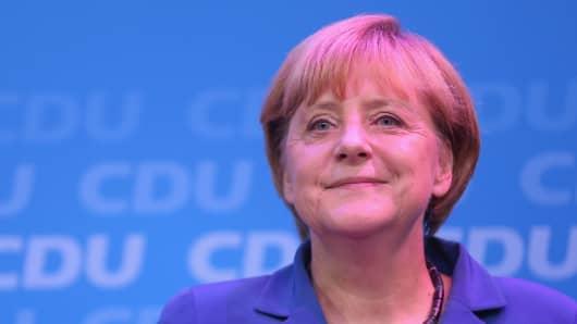 Angela Merkel, German Chancellor and Chairwoman of the German Christian Democrats (CDU).