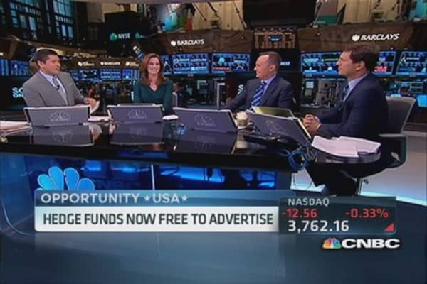 Hedge funds are now free to advertise