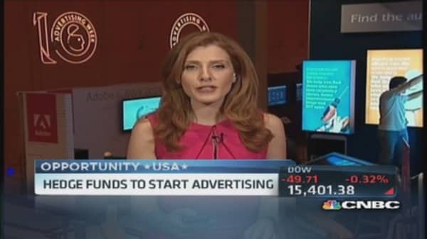 Hedge funds to start advertising