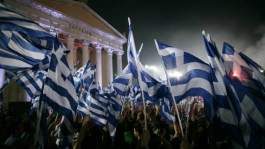 POLITICAL RALLY FOR THE NEW DEMOCRACY PARTY AHEAD OF THE GREEK G