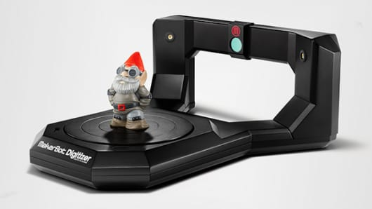 MakerBot's Digitizer, a desktop 3-D scanner.
