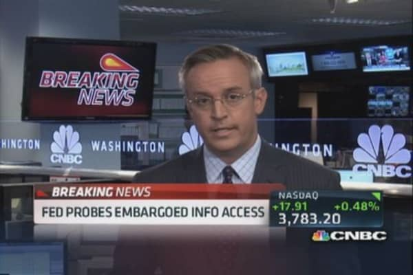 Fed probes embargoed info access
