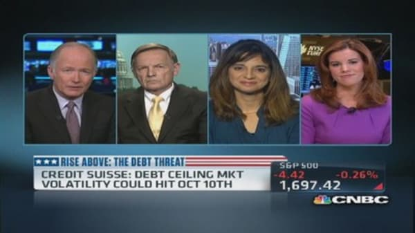 Credit Suisse: Markets could see debt ceiling volatility by October 10th