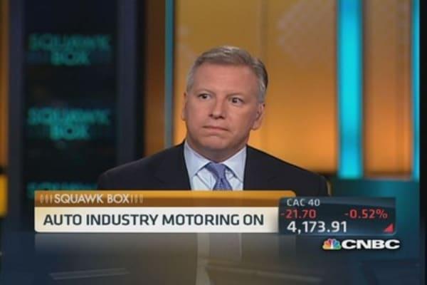 Auto industry motoring on