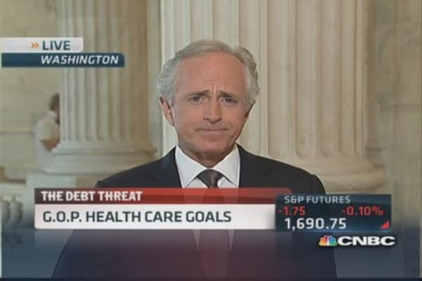 Shutdown showdown 'ugly to watch': Corker