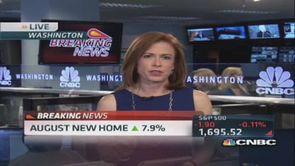 August new home up 7.9 percent