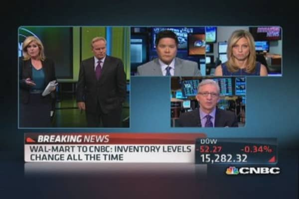 Wal-Mart to CNBC: Constantly managing inventory