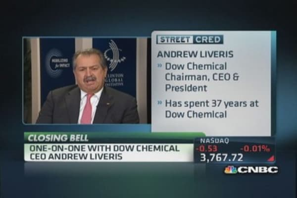 Dow Chemical CEO: The US has been a bright spot