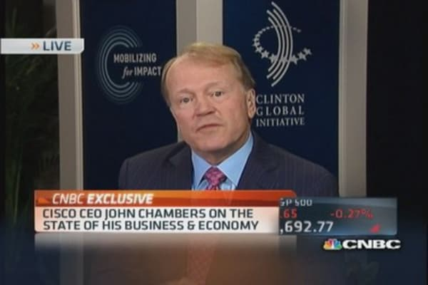Cisco CEO: Engine of growth is in US
