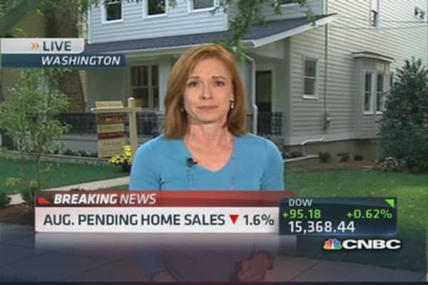 Olick: Pending home sales down