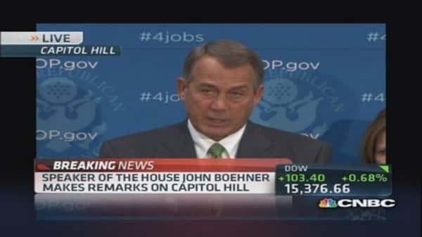 Boehner: We won't accept 'new normal'