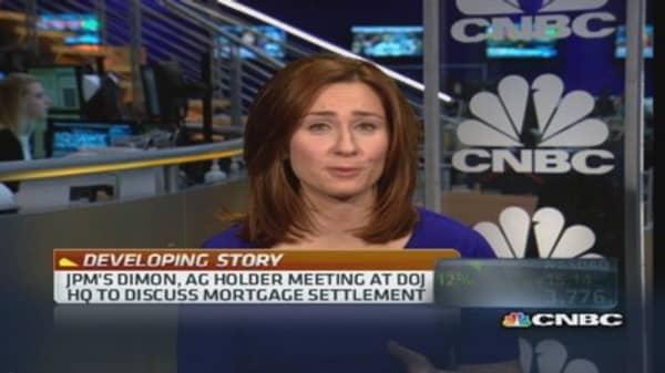 JPM's Dimon met AG Holder this morning